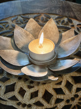 Load image into Gallery viewer, Lotus Tealight Candle Holder- Silver