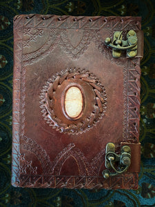 Leather journal medium - one stone
