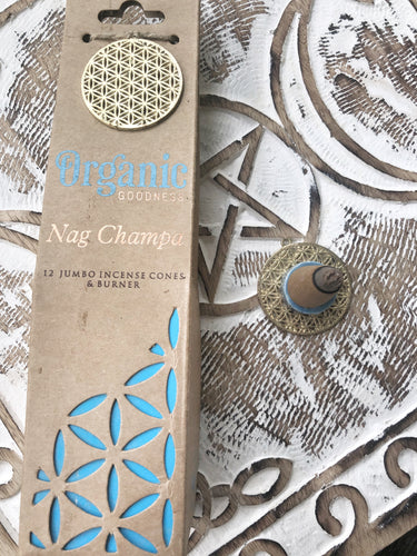 Organic Goodness Incense Cones- Nag Champa