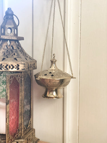 Brass Bohemian Incense Holder