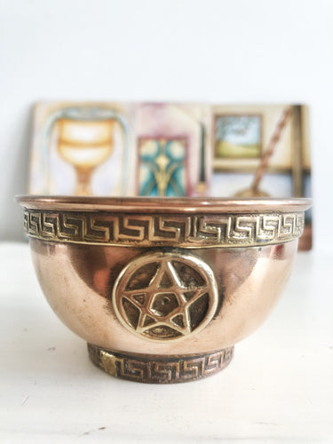 Pentacle Copper Bowl