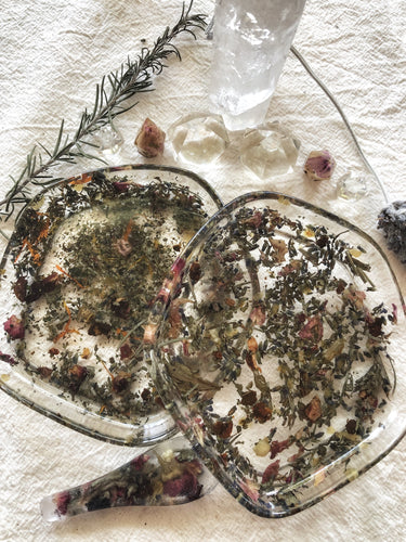 Herbal Resin Trinket Dish