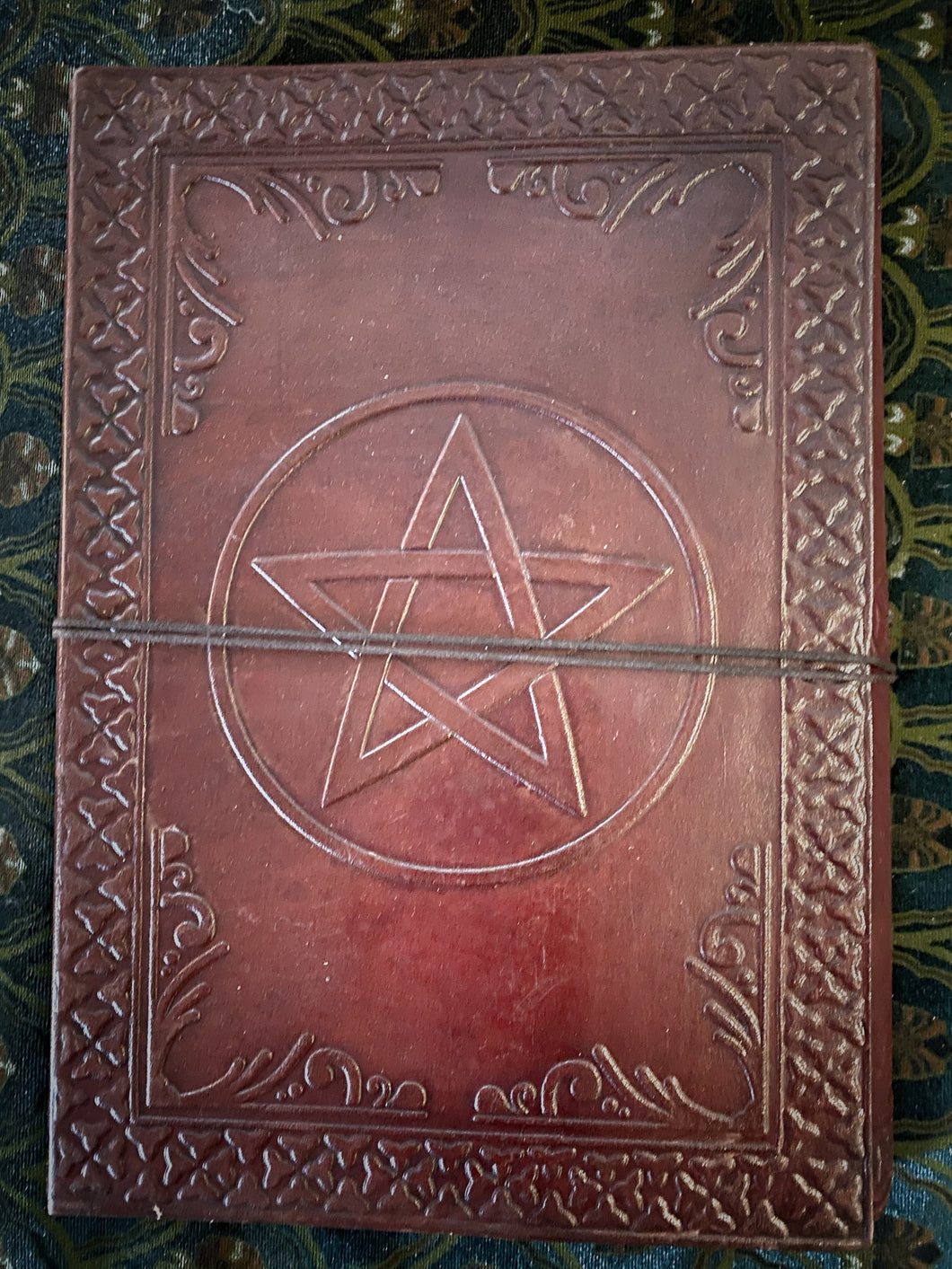 Leather journal large - pentacle
