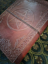 Load image into Gallery viewer, Leather journal large - pentacle