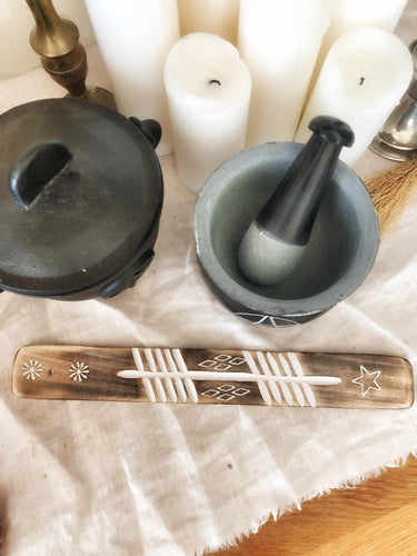 Incense wooden holder
