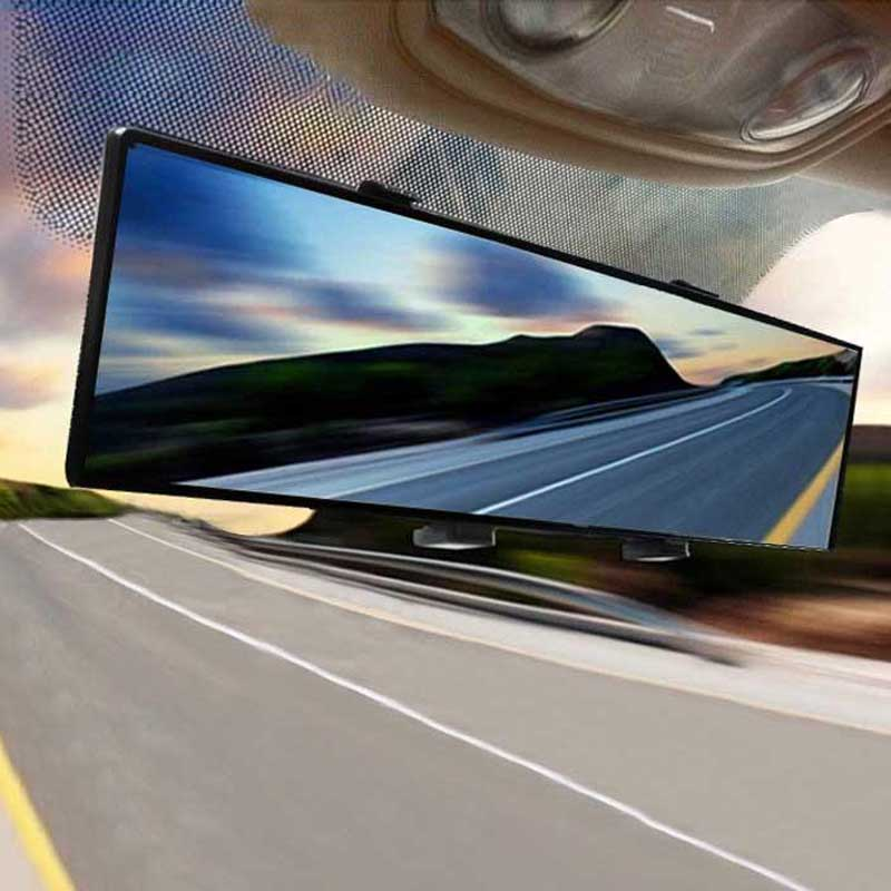 Universal Auto Rear View Mirror Anti-glare Wide-angle Surface Blue Mirror