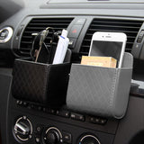 Leather Car Air Outlet Organizer Phone Holder Interior Accessories