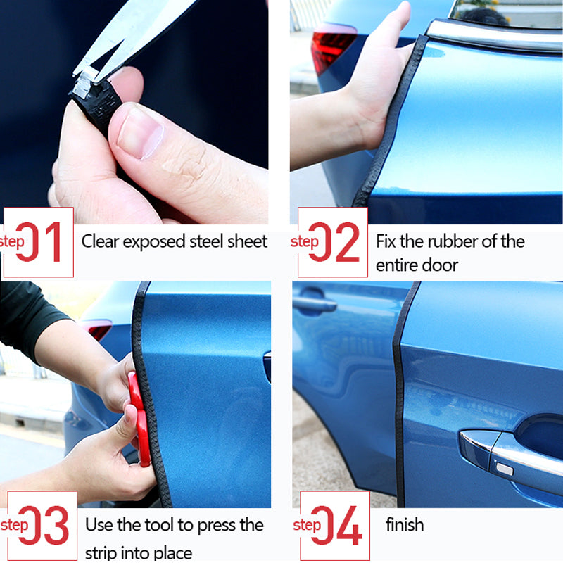 car door edge guards with internal aluminum metal clips