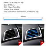 Chrome PVC Car Air Conditioner Vent Outlet Trim Decoration Strip2