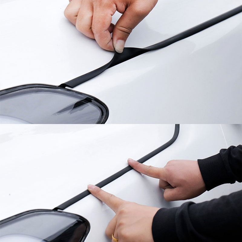 Car Door Weather Stripping 4m Universal Rubber Seal Strip Waterproof