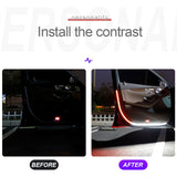 Seametal 12V Car Door Warning Lamp Auto Door LED Strip Light Universal Door Open Lights Strobe Safety Ambient Lamps 120cm Fexible Strips3