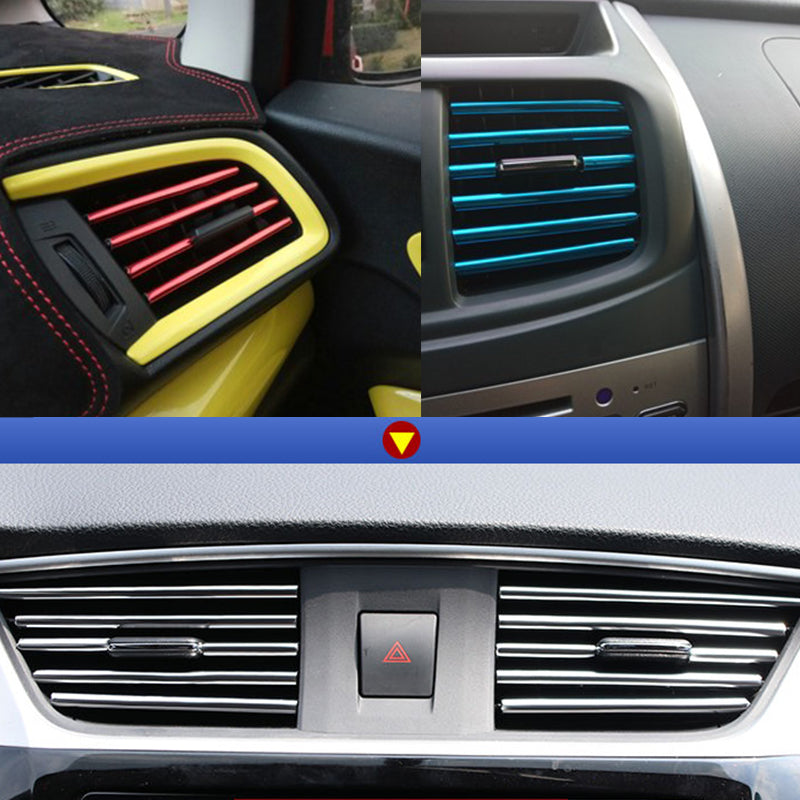 Chrome PVC Car Air Conditioner Vent Outlet Trim Decoration Strip5