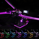 Seametal Car Neon Strip 6M Sound Control Light RGB LED Decorative Car Ambient Light Auto Atmosphere Lamps6