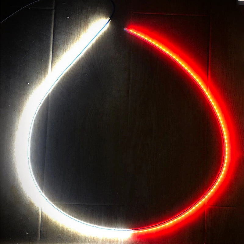 Seametal 12V Car Door Warning Lamp Auto Door LED Strip Light Universal Door Open Lights Strobe Safety Ambient Lamps 120cm Fexible Strips6