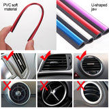 Chrome PVC Car Air Conditioner Vent Outlet Trim Decoration Strip6