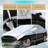 Breathable Car Half Cover Waterproof Scratch Sun Dust Snow Resistant