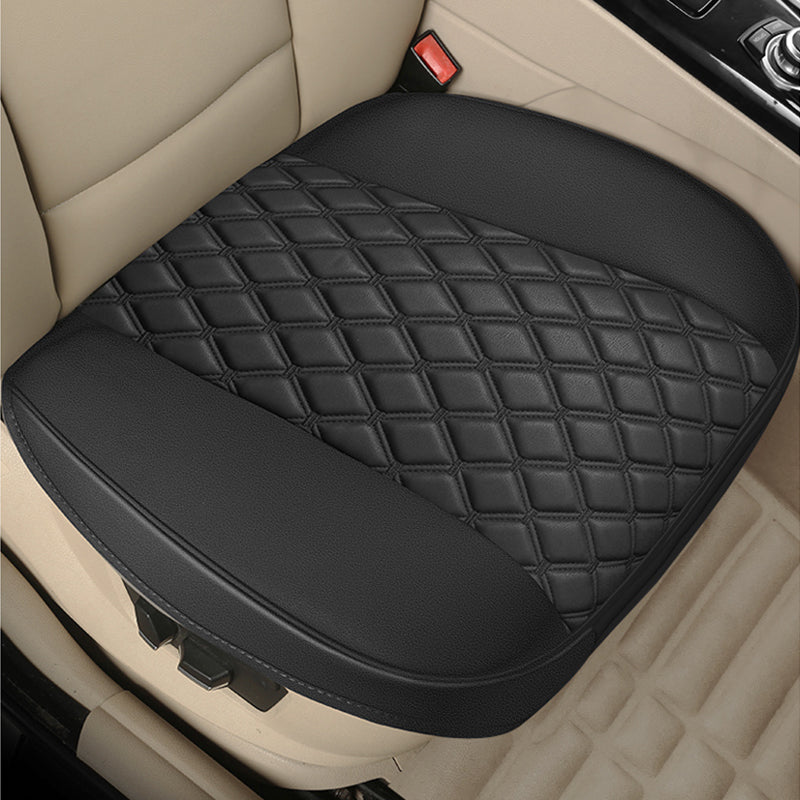 Leather Car Seat Cover for Bottom Only 3D Tailored Universal, Black