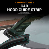 1.8M Car Hood Guide Strip Reduce Noise Wind Resistance Spoiler Decoration Sealing Strips Sticker