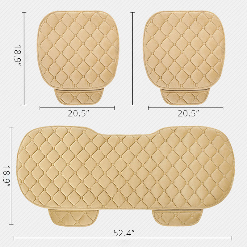 Winter Car Seat Cushion Covers Short Plush Protector Pads Set