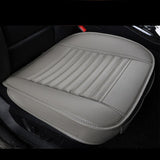 Car Seat Protector Pads Thick Leather Auto Cushion Covers, Gray