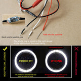 "1Pair 2.5""/3"" Car Led Light Guide Angel Eyes Halo Rings, 4 colors"