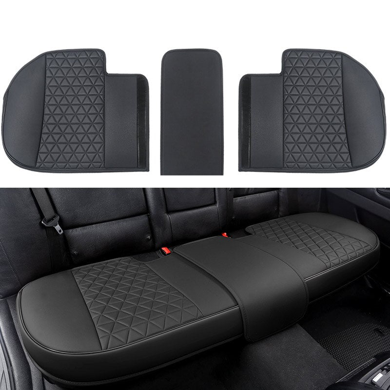 Leather Car Seat Cover for Bottom Only 3D Tailored Universal, Black Image08