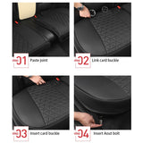 Leather Car Seat Cover for Bottom Only 3D Tailored Universal, Black Image05