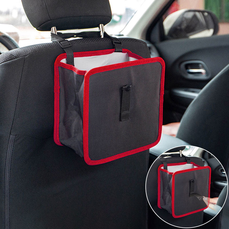 Multipurpose Hanging Car Trash Can Waterproof Garbage Bins for car
