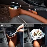PU Leather Car Seat Gap Filler Leak Stop Pad Phone Card Storage