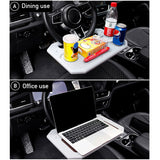 Portable Car Laptop Computer Desk Steering Wheel Table Work Drink Holder