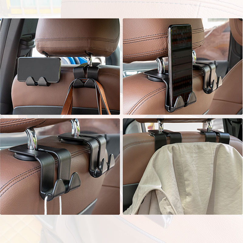 Universal Car Back Seat Double Hook Clothes Bags Purse Holder Hangers