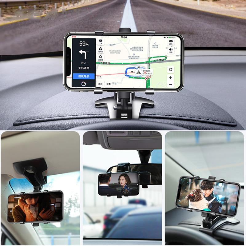Car Phone Holder Clips Mobile Phone Stand Support for Phone Navigation
