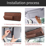 Car Sunshade Storage Bag Interior Auto Sun Visor Multi-functional Organizer for Sun Glasses Card Pen Universal Sun Board Support