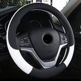 "15"" Leather Steering Wheel Cover Custom Wheelskins Color White"