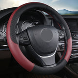"15"" Leather Steering Wheel Cover Custom Wheelskins Color Wine"