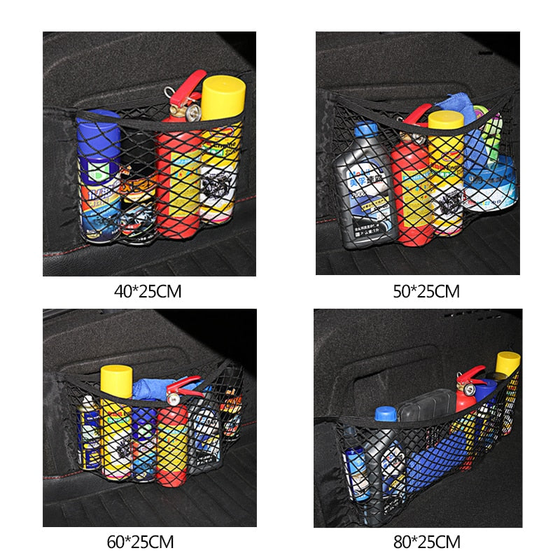 Car Trunk Organizer Double Layer Elastic Storage Mesh Net