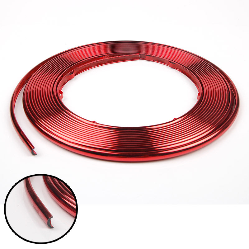 Rim Guard Alloy Wheel Protector Trim Chrome Painted Grille Strip Decals, 26'
