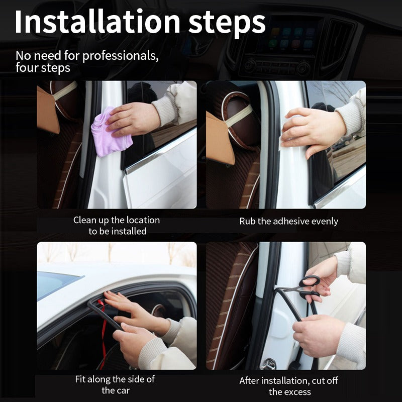 Car Door Seal Strip Auto Rubber Weather Stripping for Car Door Noice |SEAMETAL