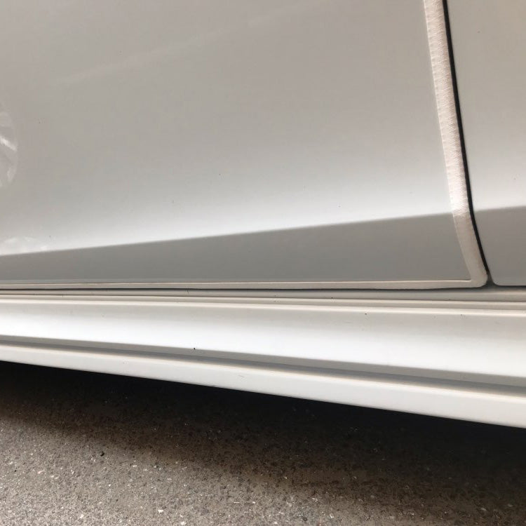 Door Edge Guards Protector Strip with Internal Aluminum Metal Clips Edge Trim Color White