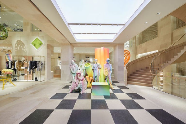 "Retail Solutions - ""Spectacle Store""or a color explosion on New Bond Street"