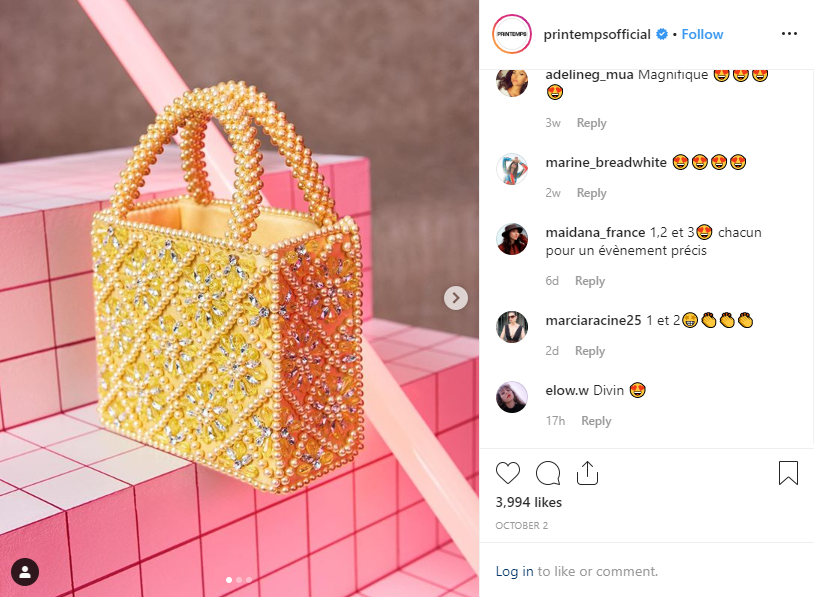 Retail Solutions - Instagram goes alive in Printemps