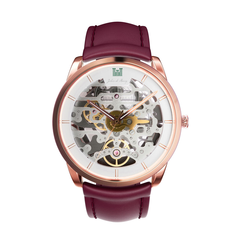Beauvoir Gold & Bordeaux Automatic Watch