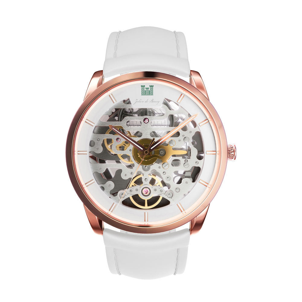 Beauvoir Gold & White Automatic Watch