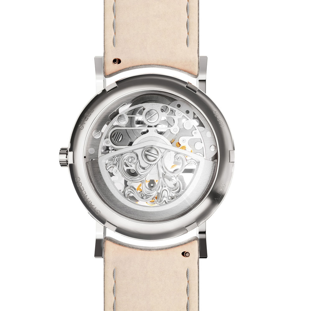 Auvergne Silver & Sky Automatic Watch