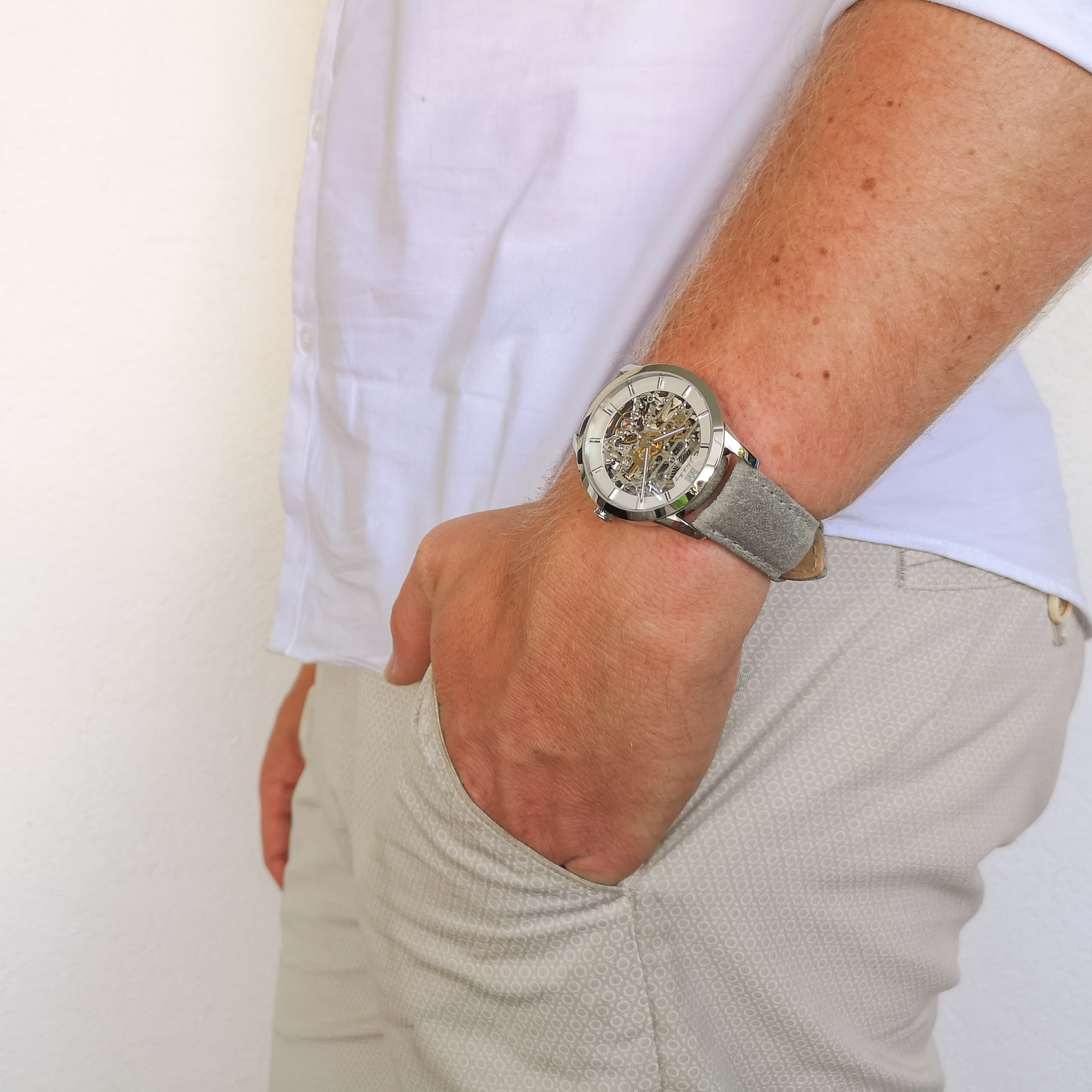 Montrichard Silver & Cement Automatic Watch