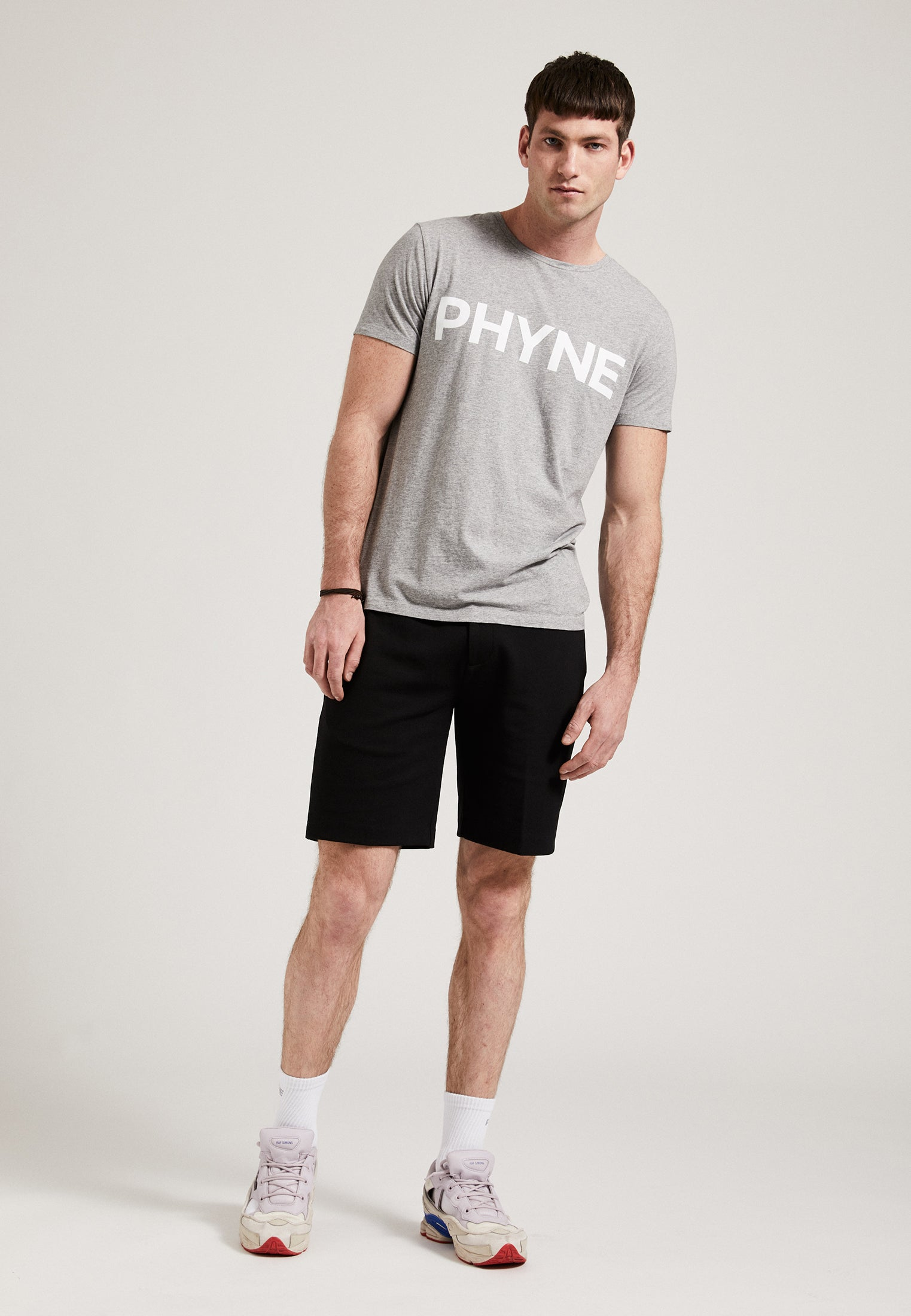 The Phyne Round Neck T-Shirt Grey Melange