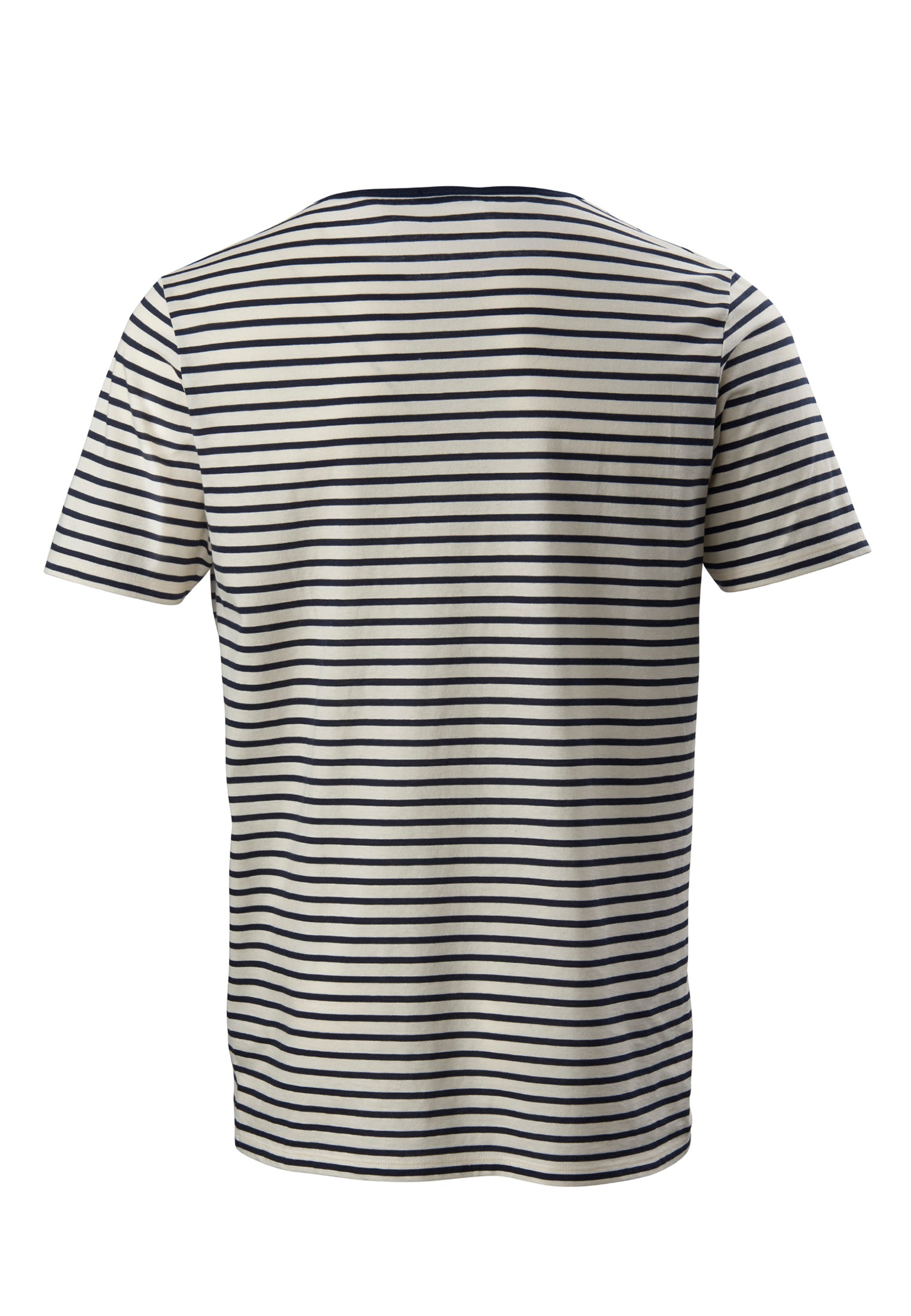 The Round Neck T-Shirt Stripes Navy/White