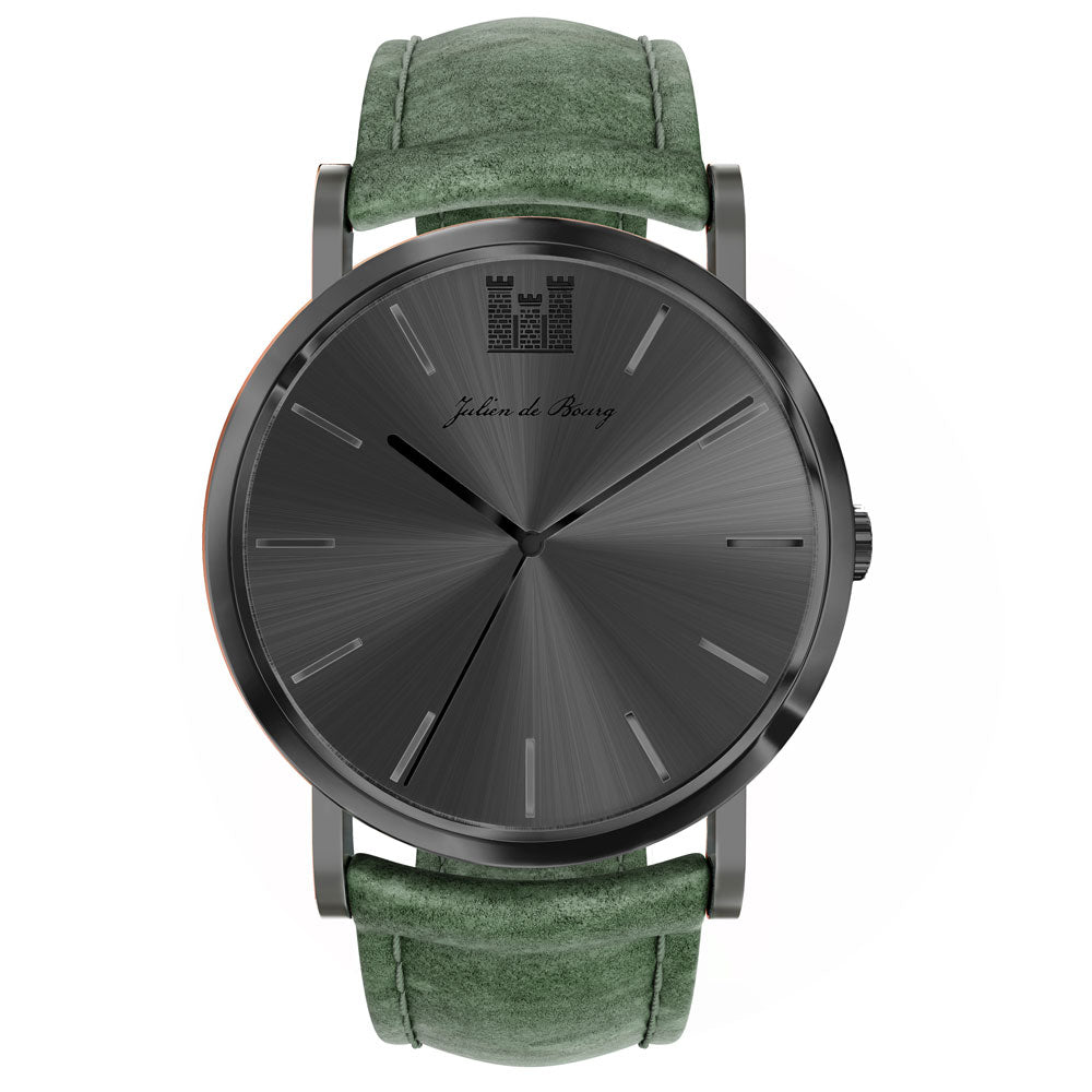 Saint-Rémy Black & Olive Automatic Watch