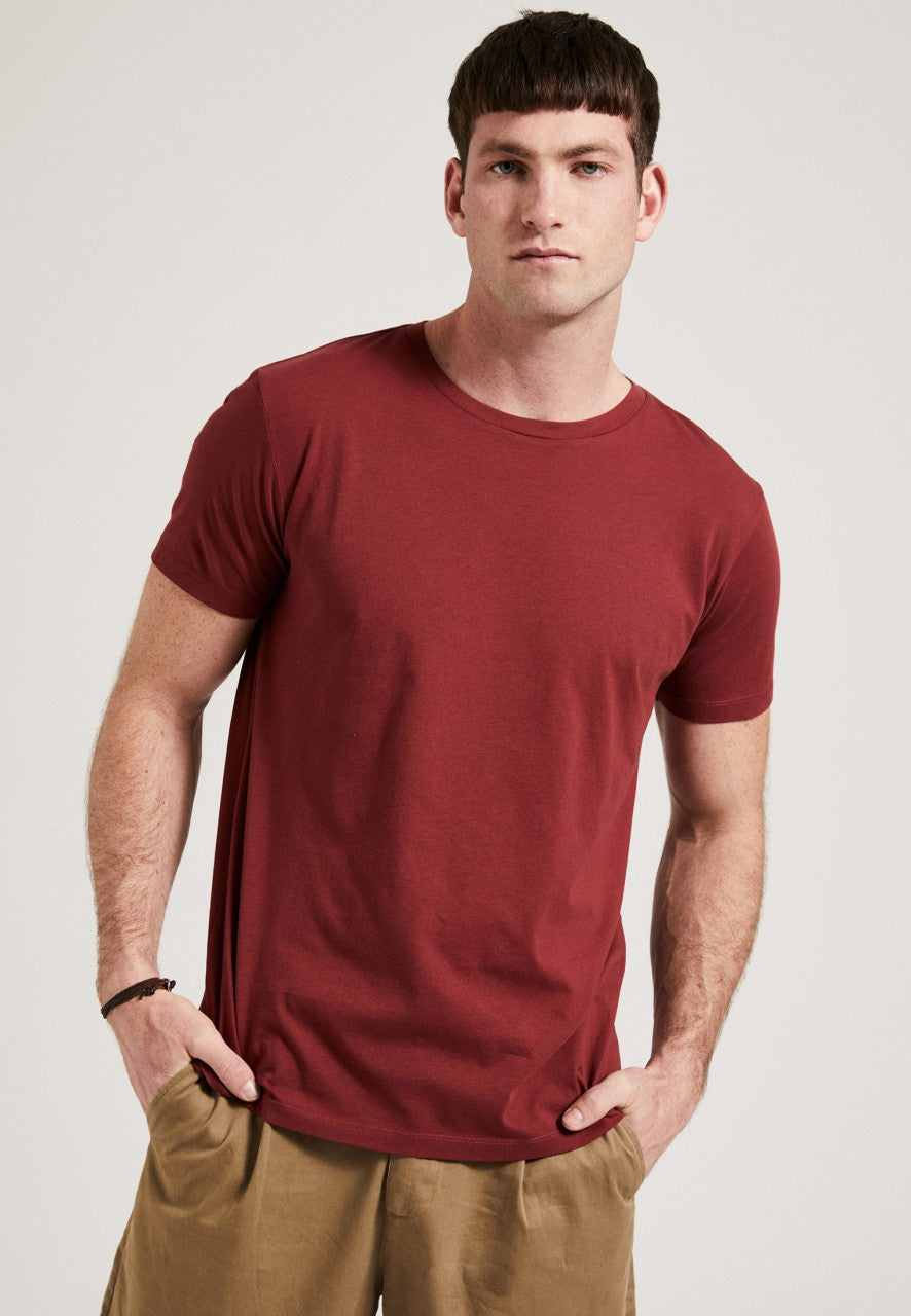 The Round Neck T-Shirt Bordeaux
