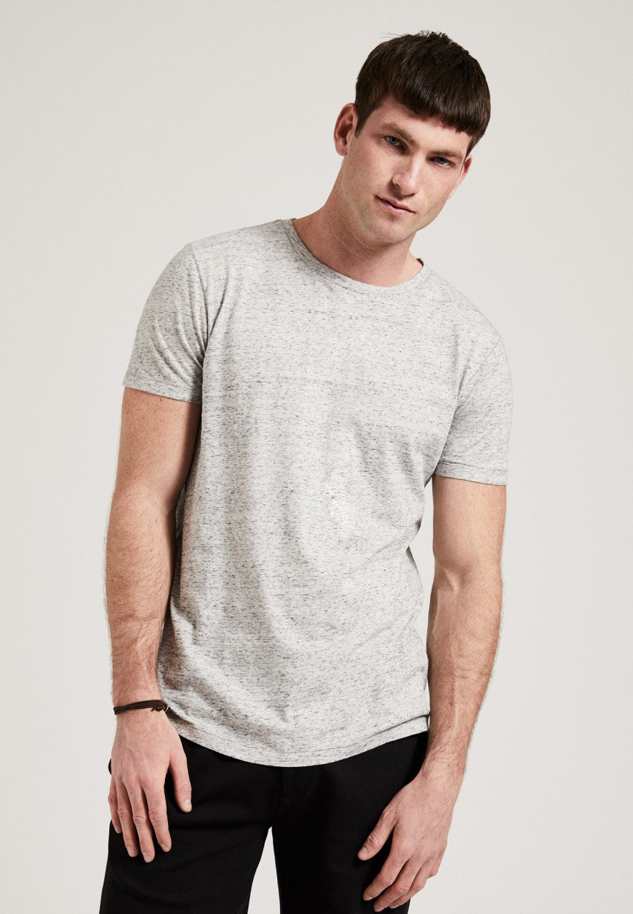 The Round Neck T-Shirt Grey Melange